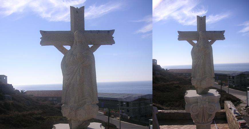 Cruceiro con Cristo y Ascensión